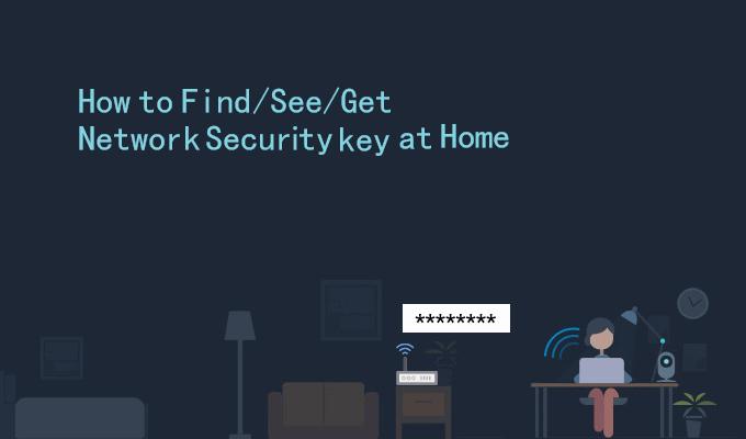 Encuentra una llave de seguridad de red en casa