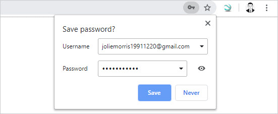 ask to save your password