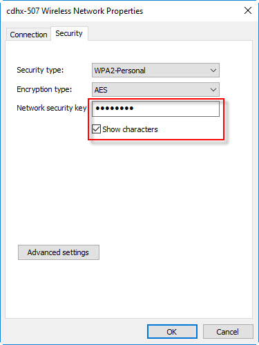 disable show characters