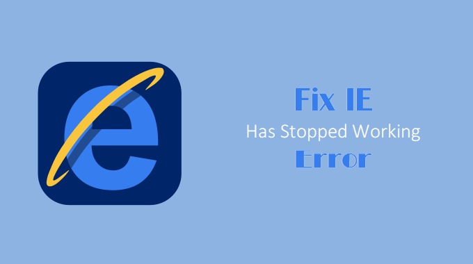 fix IE has stopped working error