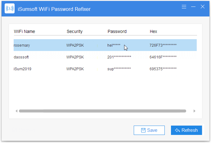 Get Wi-Fi password