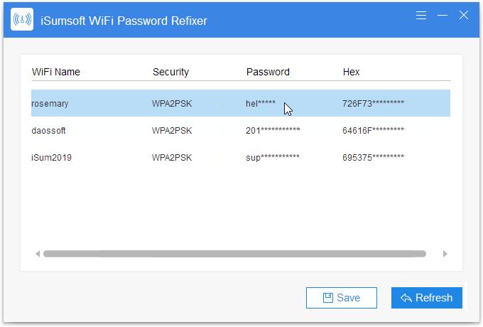 Obtener contraseña de Wi-Fi