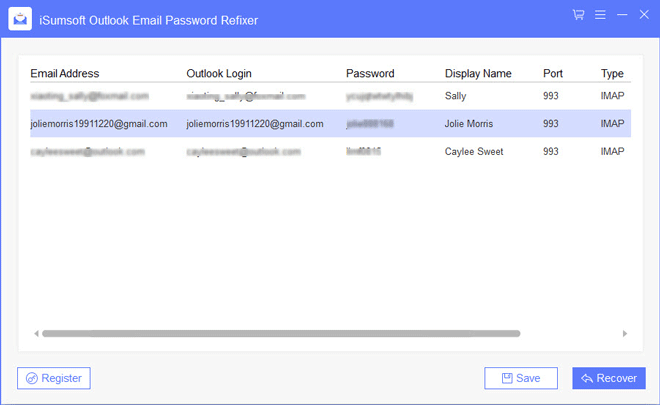 show Gmail password