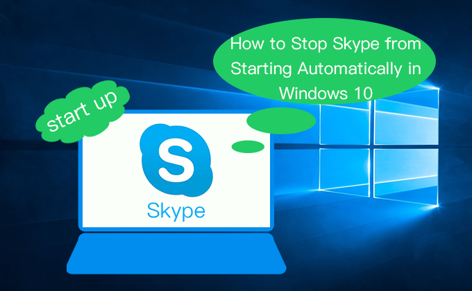 stop Skype from starting automatically