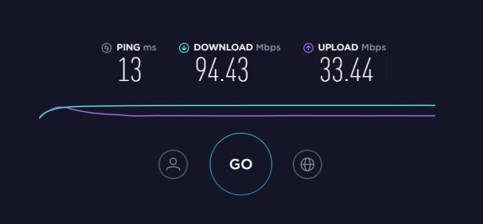 Test internet speed