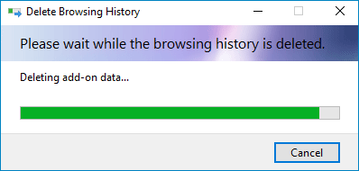 wait for the browsing history is deleted