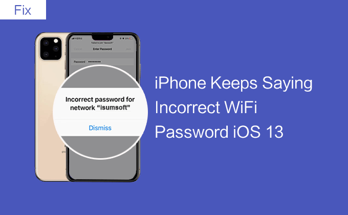 fix iPhone 11 incorrect WiFi password
