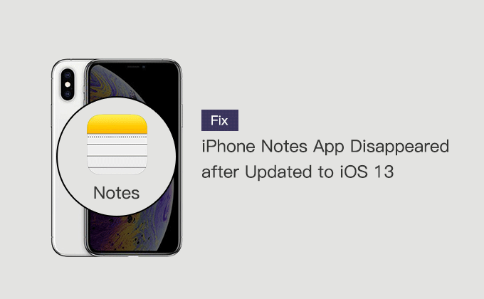 fix Notes app disappeared from iPhone