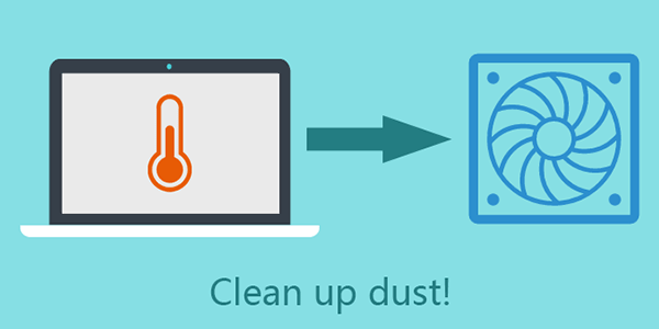 clean up laptop dust regularly