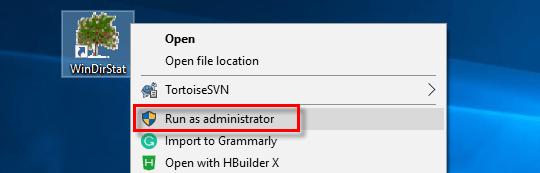 run as administrator