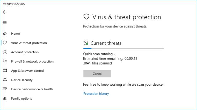 Escanear en busca de virus