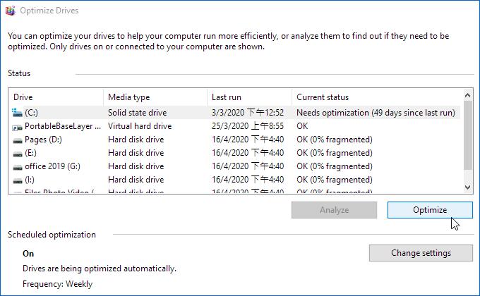 Optimizar las unidades