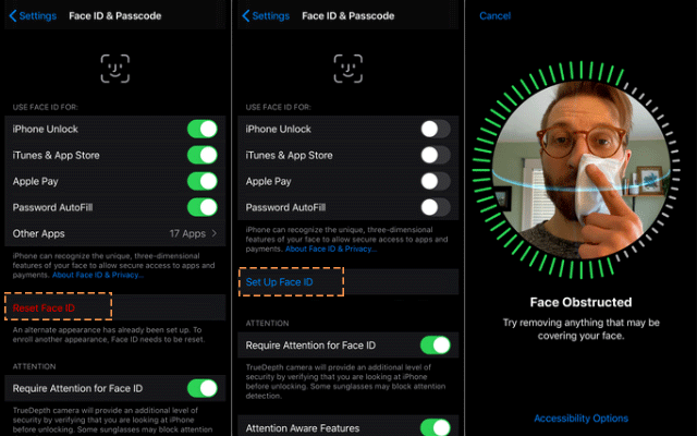 Set up Face ID with a mask