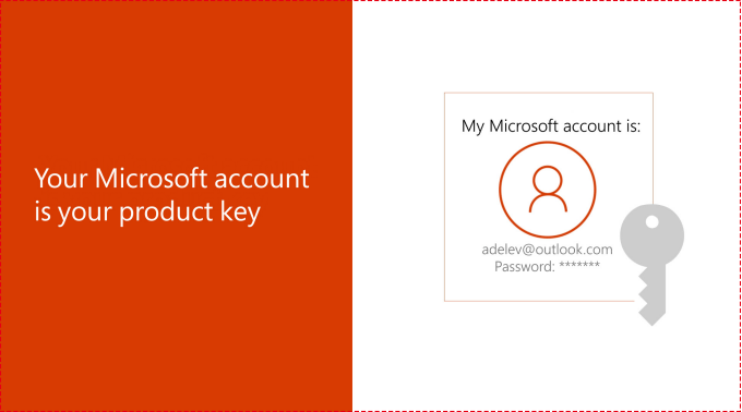 Your Microsoft account is your product key