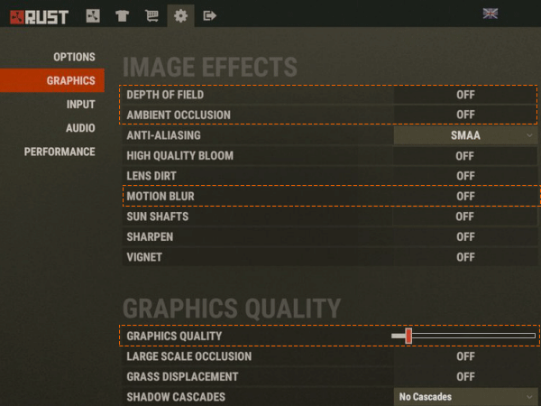 Change game's graphics settings