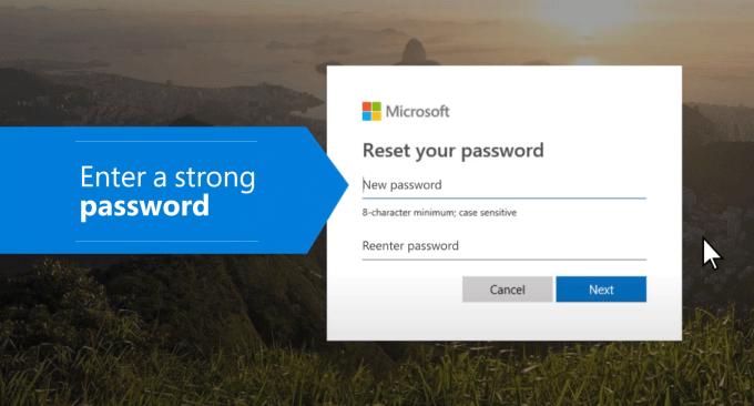 reset your Microsoft account password