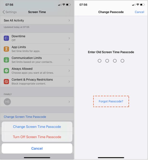Forgot Screen Time Passcode