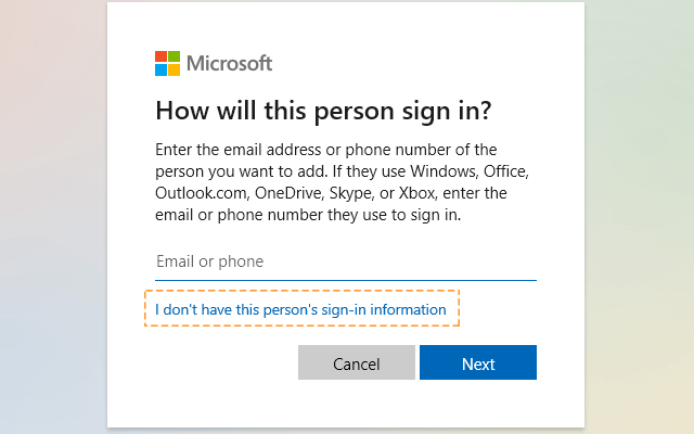 I do not have this person's login information