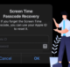 Recover forgotten screen time passcode iPhone iPad