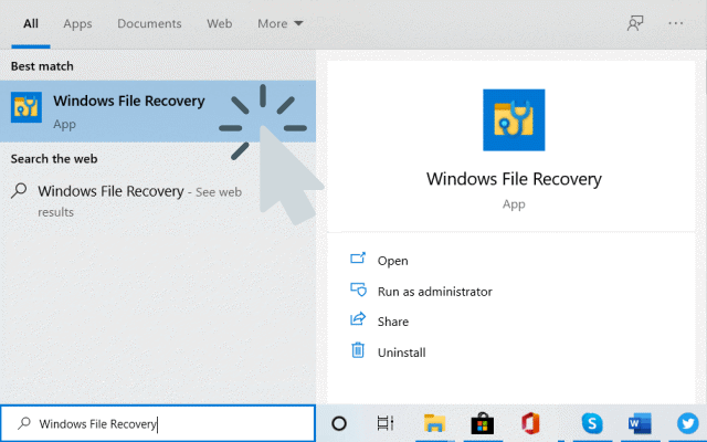 Open Windows File Recovery