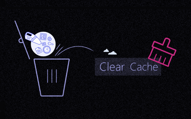 Clear cache on Windows 10