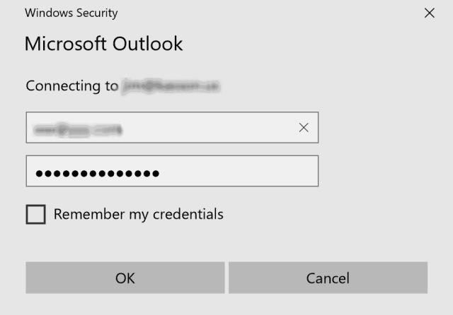 Seguridad de Windows sigue pidiendo contraseña