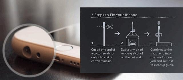 Limpiar la toma de auriculares