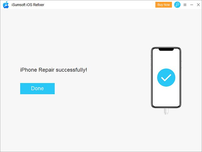 Reparar iPhone con éxito