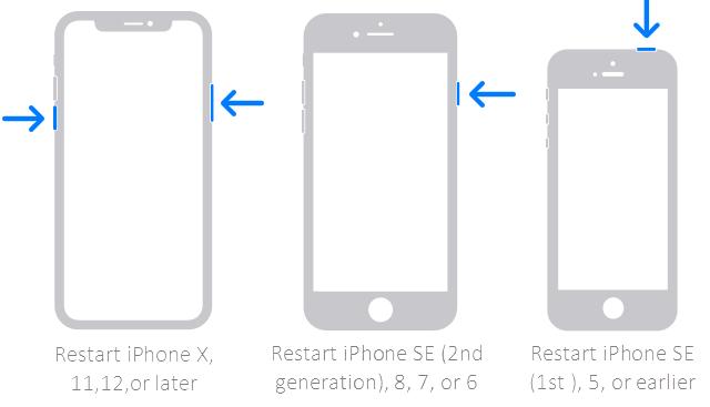 Reinicie el iPhone que se atascó en el modo de auriculares