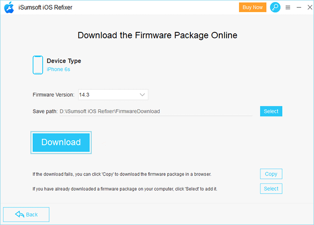 Download the firmware package