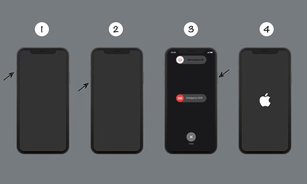 Reiniciar el dispositivo iPhone
