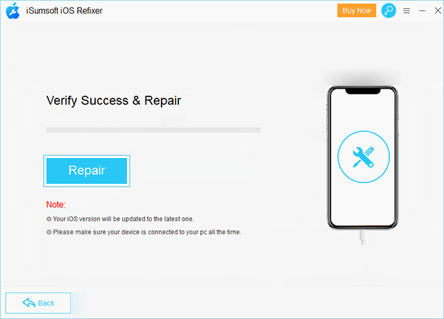 Repair iOS device