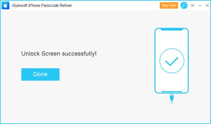 Unlock iPhone successfully