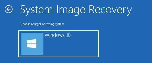 select Windows 10 system