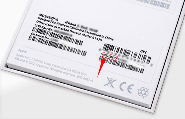 IMEI number is on the iPhone's box